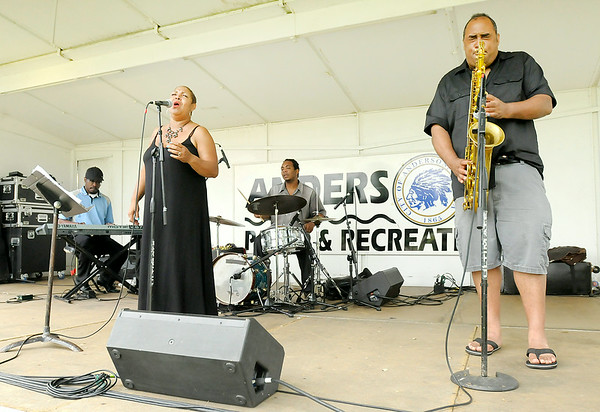 Don Knight | The Herald Bulletin<br /> Cynthia Layne performs during the Jazz on the Greens concert at Grandview Golf Course on Saturday. To view or buy this photo and other Herald Bulletin photos, visit photos.heraldbulletin.com.