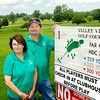 John P. Cleary | The Herald Bulletin<br /> Sue and Jeff Sanders stand by the #1 tee of Valley View Golf course that they have reopened this spring.