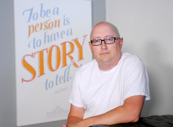 Don Knight | The Herald Bulletin<br /> Luke Renner from The Story Shop in Pendleton has raised money for a documentary on traumatic stress disorder and other types of trauma.