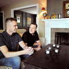 John P. Cleary | The Herald Bulletin  <br /> Adam Fraley and his husband Zach Morrison sit in their Edgewood home and talk about what the first year of marriage has been like for them.