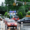 Don Knight | The Herald Bulletin<br /> Motorists negotiate the intersection at 38th and Main Streets after a thunderstorm knocked out power to the stop lights on Wednesday.