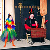 "Mark Maynard | for The Herald Bulletin<br /> Iago the parrot (Raya Conway) and Jafar (Christian Moree) plot to seize power from  the Sultan in ""Aladdin Jr."""