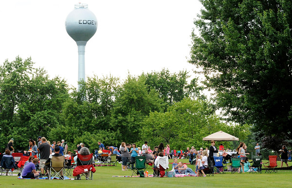Don Knight | The Herald Bulletin<br /> Families gather on the fairways at the Edgewood Country Club waiting for fireworks during the Edgewood Independence Day Celebration at the Edgewood Country Club on Saturday.