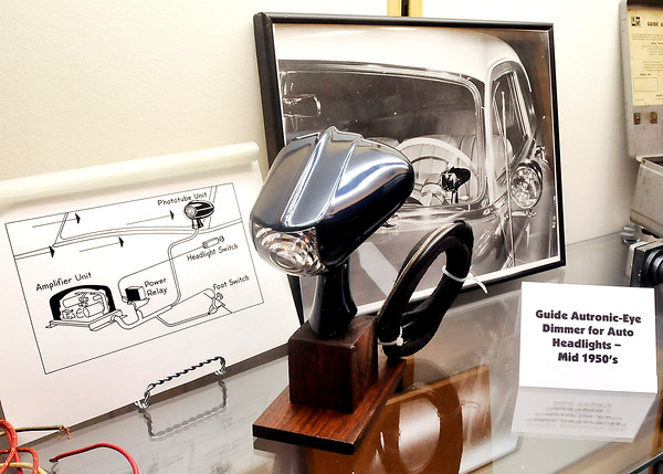 John P. Cleary | The Herald Bulletin<br /> This Guide auto headlight dimmer from the mid 50's is part of the Guide Lamp exhibit at the Madison County Historical Society.