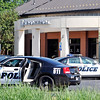 John P. Cleary | The Herald Bulletin<br /> APD on scene at Old National Bank at 219 S. Scatterfield Rd. were a robbery was reported Monday afternoon.