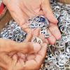 John P. Cleary | The Herald Bulletin<br /> Larry VanNess counts tabs to donate to the Ronald McDonald House of Indiana.