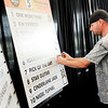 Don Knight | The Herald Bulletin<br /> Jason Dillander chooses Pick Of The Day in the fifth race as drivers choose their horses during the All-Star Driver post draw luncheon at Hoosier Park on Thursday.