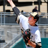 John P. Cleary | The Herald Bulletin<br /> Daleville pitcher Brandon Vermillion pitched a complete game four-hit shutout<br /> against Lanesville in the Class A baseball state finals game.