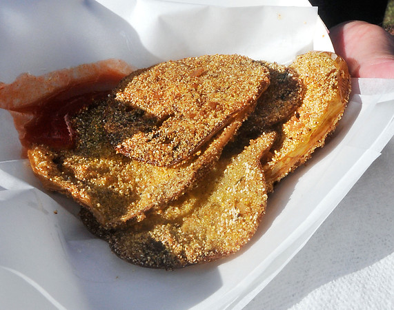 John P. Cleary | The Herald Bulletin<br /> Madison County 4-H Fair fried foods include fried green tomatoes.