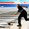 Don Knight | The Herald Bulletin<br /> Former major league pitcher John Burkett practices at Dave Small's Championship Lanes in Anderson on Saturday. Burkett is competing in the PBA50 event this week at Dave Small's Championship Lanes.