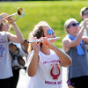 Don Knight | The Herald Bulletin<br /> Nicole McCord rehearses with the Panther Band on Tuesday. Elwood is scheduled to perform at 9:24 a.m. during State Fair Band Day.