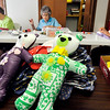 John P. Cleary |  The Herald Bulletin<br /> The Madison County Love Bears group makes their Love Bears at Southern Heights Christian Church. Working in the background here are Berine Lewis, Sally Freeman, and Mary Gutierrez.