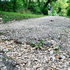 John P. Cleary |  The Herald Bulletin<br /> The City of Anderson will spend an estimated $200,000 to resurface the 2.5-mile trail system around the lake at Shadyside Park starting next week. Walkers using the trails say the resurfacing has been needed for quite awhile.
