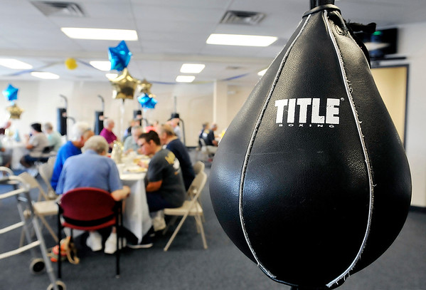 John P. Cleary    The Herald Bulletin<br /> Rock Steady Boxing celebrated their one-year anniversary, and expansion, with a cookout for all their clients this past Wednesday.