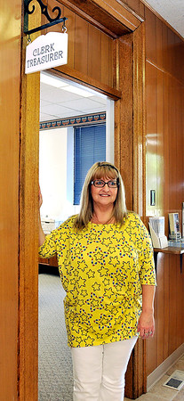 John P. Cleary |  The Herald Bulletin<br /> Alexandria's new clerk-treasurer Jill Scott.