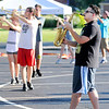 Don Knight | The Herald Bulletin<br /> Noah Werline performs a solo as the Elwood band rehearses their State Fair Band Day show on Tuesday.