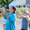 Don Knight | The Herald Bulletin<br /> Cale Morrison rehearses with the Elwood band on Tuesday as the Panthers prepare for State Fair Band Day.