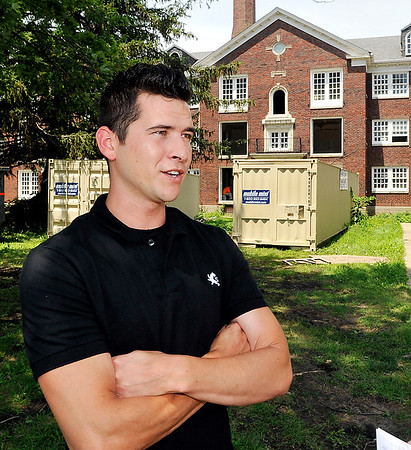 John P. Cleary    The Herald Bulletin<br /> Triton Investment owner Cory Mendez saw the potential of a good investment by purchasing and rehabilitating the Delaware Court Apartments.
