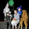 Mark Maynard | for The Herald Bulletin<br /> Hoping to win a heart for the Tinman (Tyler McCorkle), a brain for the Scarecrow (Elijah Bock), courage for the Cowardly Lion (audrey Salazar) and a way back home to Kansas for Dorothy (Hannah Whipple) and Toto (Mason Hill), the group decides to accept the Wizard's demand that they bring him the broomstick of the Wicked Witch of the West.