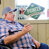 Don Knight | The Herald Bulletin<br /> Vaughn Bracken talks about his farming career and the changes he has seen at Bracken Farms on Wednesday.