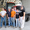 Don Knight | The Herald Bulletin<br /> From left, Shane Benefyel, Andy Bracken, Brock Bracken, Vaughn Bracken, Drew Bracken and Carl Bracken at Bracken Farms on Thursday.