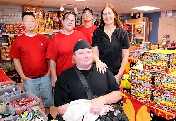 Don Knight | The Herald Bulletin<br /> Indiana Warrior Alliance, from left, Terry Jones, Amy Noragon, Tim Senkowski, Phillip Simms and Tammy Rigdon.