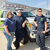 John P. Cleary | The Herald Bulletin<br /> Richland Township Volunteer Fire Department now is a Advanced Life Support provider with their ambulance service. Shown here with their new ambulance are EMT Debbie Gates, Advanced EMT John Moore, and ambulance driver/firefighter Alec Ballousa.
