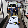 John P. Cleary | The Herald Bulletin<br /> Richland Township Volunteer Fire Department EMT Debbie Gates and Advanced EMT John Moore discuss the department's new certification of being a Advanced Life Support provider with their ambulance service now.