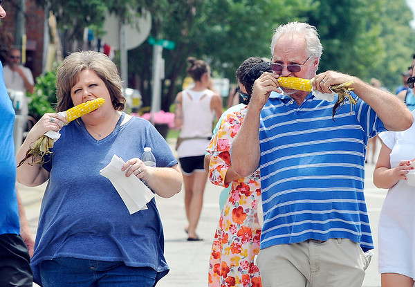 John P. Cleary | The Herald Bulletin<br /> The Lapel Village Fair was the place to get all your favorite foods, like sweet corn.