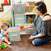 Don Knight | The Herald Bulletin<br /> Novah Norris Campbell plays with her son Carter, 2, on Thursday. Norris Campbell graduated from Goodwill's Nurse-Family Partnership program that partners new moms with nurses from prenatal care until their child turns two.