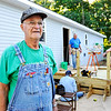 John P. Cleary | The Herald Bulletin<br /> Sy Veneskey is a longtime volunteer with Habitat for Humanity, and heads up a crew that is building this home in Chesterfield.
