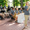 "Don Knight | The Herald Bulletin<br /> Staci Miller sings ""When I Fall in Love"" with the Directors Jazz Orchestra during their concert at Davis Park on Thursday. First United Methodist Church holds an outdoor service at the park each Sunday at 9 a.m. through Labor Day. The church will also be hosting a Summer Carnival on July 21st from 4-7 p.m. at the park."