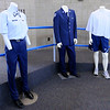 Don Knight | The Herald Bulletin<br /> Examples of dress and physical training uniforms on display for students as they participate in a three-day Cadet Leadership Course at APA on Thursday.