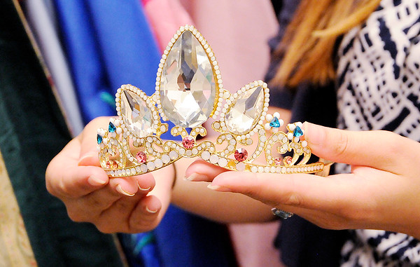 Don Knight | The Herald Bulletin<br /> Ashley Heiney's collection includes accessories every princess needs like this tiara.