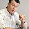 John P. Cleary | The Herald Bulletin<br /> Sen. Todd Young visits The Herald Bulletin newsroom.