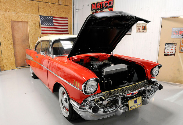 Don Knight | The Herald Bulletin<br /> A Chevrolet Bel Air at American Classics Restoration in Anderson.