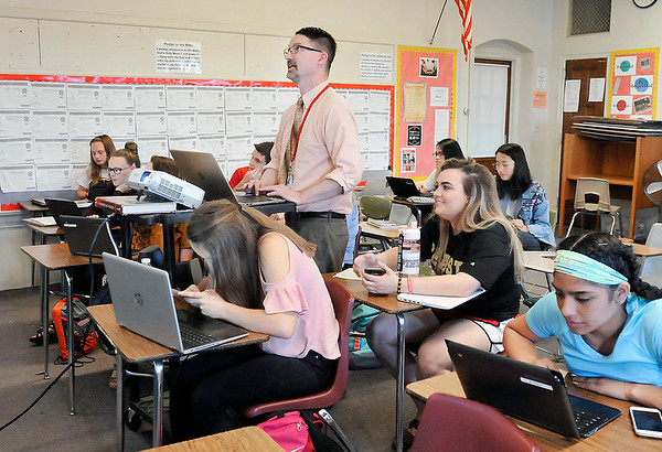 John P. Cleary | The Herald Bulletin<br /> Liberty Christian HS teacher Jeff Stickler was selected as a Claes Nobel Educator of Distinction by the National Society of High School Scholars.