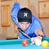 Don Knight | The Herald Bulletin<br /> Cole Peavler, 14, lines up on the one ball at the Daleville American Legion. Peavler is going to New Orleans next week for the  National 9-Ball Championships.