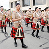 Don Knight | The Herald Bulletin<br /> Ricky Wong plays his clarinet as the Anderson Marching Highlanders perform in Anderson's Independence Day Parade on Tuesday.