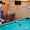 Don Knight | The Herald Bulletin<br /> Cole Peavler, 14, considers his next shot while practicing 9-ball at the Daleville American Legion. Peavler is going to New Orleans next week for the  National 9-Ball Championships.