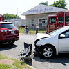 Don Knight | The Herald Bulletin<br /> Two vehicle accident at the intersection of 14th and Brown-Delaware on Thursday.