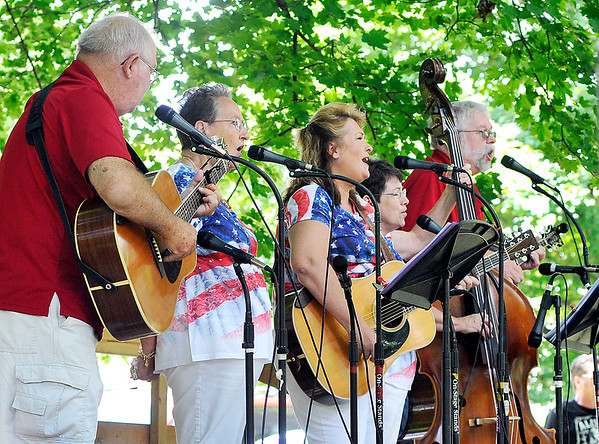 John P. Cleary | The Herald Bulletin<br /> Cumberland Gap performs at the annual Bluegrass Festival Saturday at Shadyside Park.
