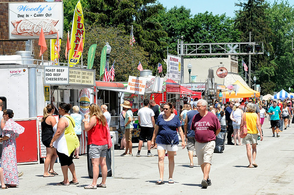 Don Knight | The Herald Bulletin<br /> There were plenty of food vendors to satisfy your apatite at the Lapel Village Fair on Saturday.