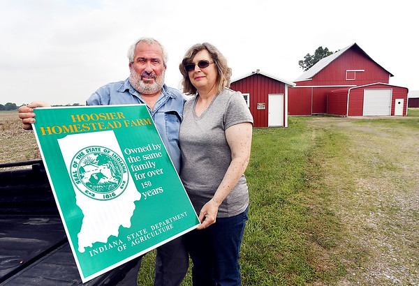 John P. Cleary | The Herald Bulletin<br /> Bob and Janet Blake's rural Alexandria farm was honored by the state as a Hoosier Homestead Farm for being in the same family for over150 years.