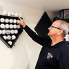 Don Knight | The Herald Bulletin<br /> Don Mason talks about his collection of memorabilia. Mason will be an umpire  working the Little League Softball World Series.