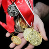 Don Knight | The Herald Bulletin<br /> Some of the metals Special Olympian Austin Wilhoite has won.