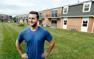 John P. Cleary   The Herald Bulletin Dylan Linsky, co-owner of Millennium Hill, has purchased the former Chase Apartments on East Tenth Street and is in the process of upgrading the 36 units in the apartment complex.