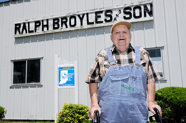 Don Knight | The Herald Bulletin<br /> At 92 Ralph J. Broyles is still working on his farm started by his father Ralph A. Broyles in Madison County.