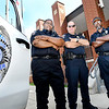 John P. Cleary | The Herald Bulletin<br /> Anderson Police Department's Animal Control officers, Dennis Watson, left, Danny Davis, right, and Senior Humane officer, Chris Ockomon, center.