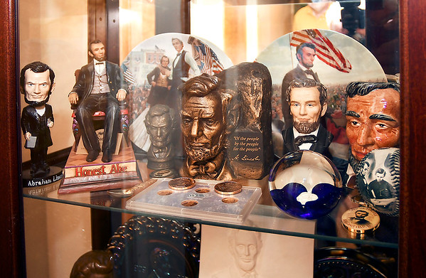 John P. Cleary | The Herald Bulletin<br /> These are some items in Dan Taylor's Lincoln collection.